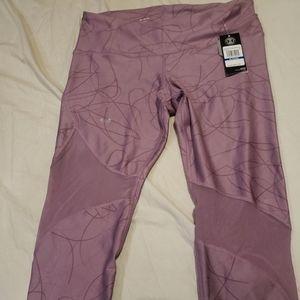 Under armour NWT lilac mesh Capri yoga pants.  Xl